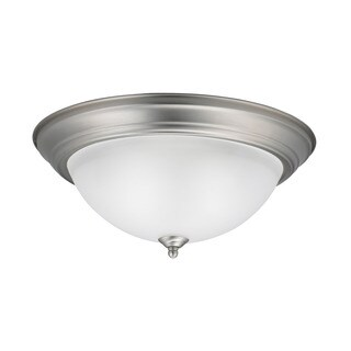 Kichler Lighting Utilitarian 3-light Brushed Nickel Flush Mount