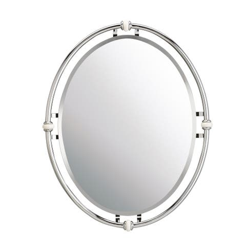 Kichler Lighting Pocelona Collection Chrome Wall Mirror - Silver - A/N