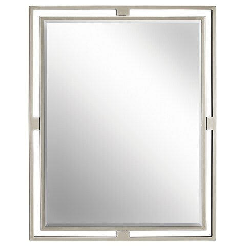 Kichler Lighting Hendrik Collection Brushed Nickel Wall Mirror - Silver - A/N