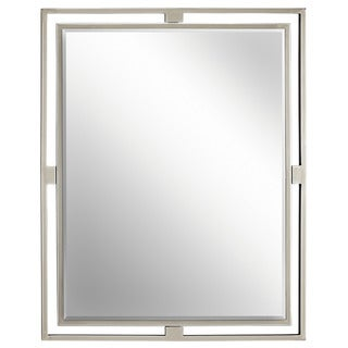 Kichler Lighting Hendrik Collection Brushed Nickel Wall Mirror - Silver - N/A
