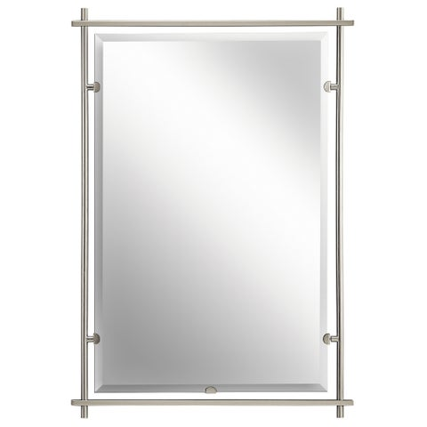 Kichler Lighting Eileen Collection Brushed Nickel Wall Mirror - Silver/Brushed Nickel - A/N