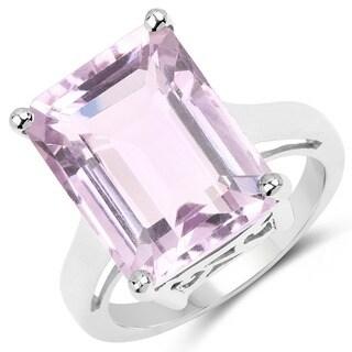 Malaika .925 Sterling Silver 11.60-carat Genuine Pink Amethyst Ring