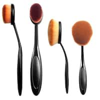 Zodaca Ultra Soft Hair Flawless Small/ Large Oval Makeup Brush for Foundation/ Blush/ Powder/ Contouring
