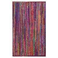 Celebration Multi-colored Cotton Braided Chindi Area Rug (5' x 8') - 5' x 8'