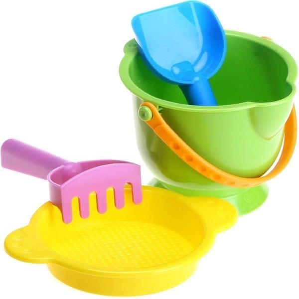 Hape 'Beach Basics' Bucket, Sifter, Rake and Shovel Set