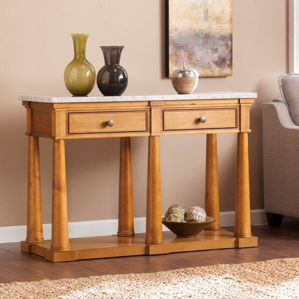 Shop Harper Blvd Gannon Faux Marble Sofa Console Table