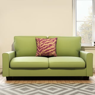 Handy Living Redmond Spring Green Velvet SoFast Compact Sofa
