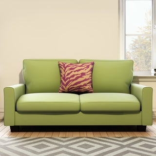 Portfolio Redmond Spring Green Velvet SoFast Compact Sofa