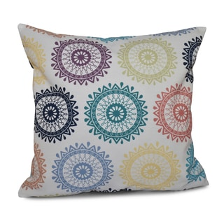 16-inch Groovy Geometric Print Outdoor Pillow
