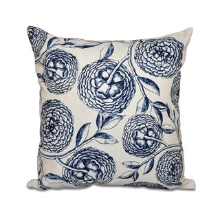 16-inch Antique Flowers Floral Print Outdoor Pillow (More options available)