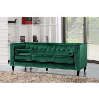 Meridian Taylor Green Velvet Sofa