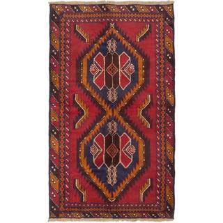 eCarpetGallery Kazak Red Wool Hand-knotted Rug (3'8 x 6'0)