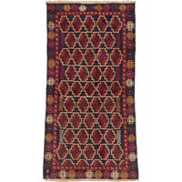 eCarpetGallery Multicolor Wool Hand-knotted Bahor Rug (3'1 x 6'1)