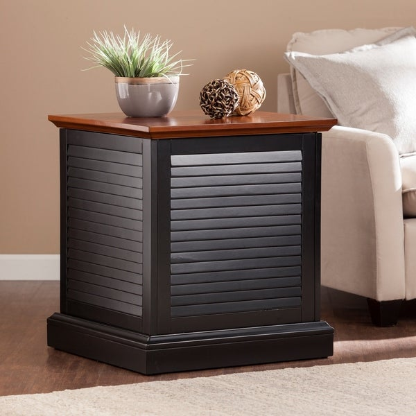 Copper Grove Castlerock Louvered Trunk Side/ End Table