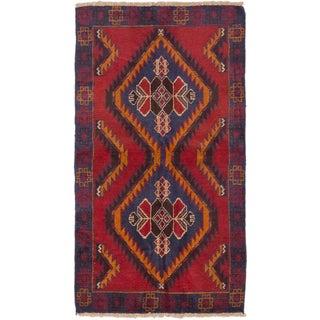 eCarpetGallery Kazak Red Wool Hand-knotted Rug (3'5 x 6'1)
