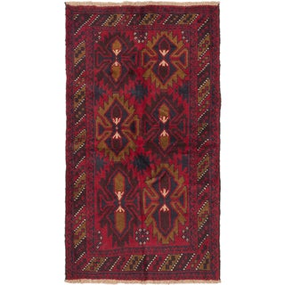 eCarpetGallery Bahor Red Wool Hand-knotted Rug (3'4 x 6'0)
