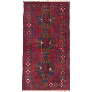 ecarpetgallery Kazak Red Wool Hand-knotted Rug (3'4 x 6'2)