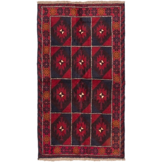 eCarpetGallery Bahor Red Wool Hand-knotted Rug (3'4 x 6'1)