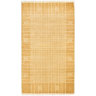 eCarpetGallery Peshawar Ziegler Cream/Light Brown Cotton/Wool Hand-knotted Rug (3'1 x 5'4)