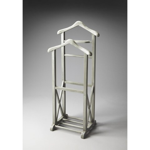 Butler Transitional Wooden Valet Stand - Gray