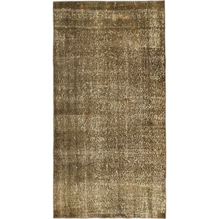 Ecarpetgallery Grey Cotton/Wool Hand-knotted Rug (3'9 x 7'1)