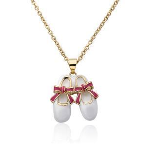 Riccova Molly Glitz Brass Little Miss Twin Stars Ballet Shoe Necklace|https://ak1.ostkcdn.com/images/products/12058385/P18928219.jpg?impolicy=medium