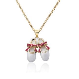 Riccova Molly Glitz Brass Little Miss Twin Stars Ballet Shoe Necklace