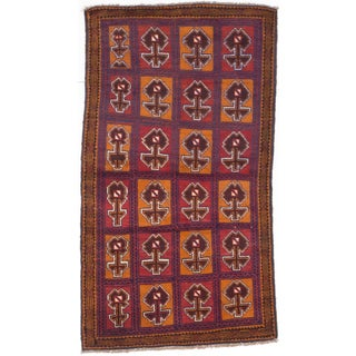 eCarpetGallery Bahor Orange/Red Hand-knotted Wool Rug (3'5 x 6'2)