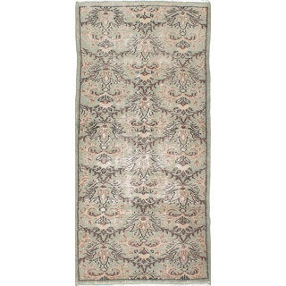 ecarpetgallery Melis Vintage Green Wool Hand-knotted Rug (3'3 x 7'0)