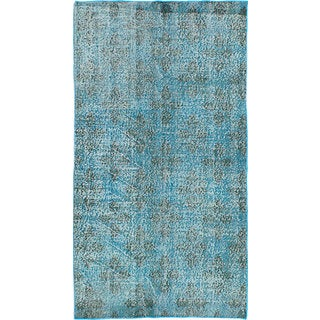 Ecarpetgallery Color Transition Blue Wool Hand-knotted Rug (3'6 x 6'7)
