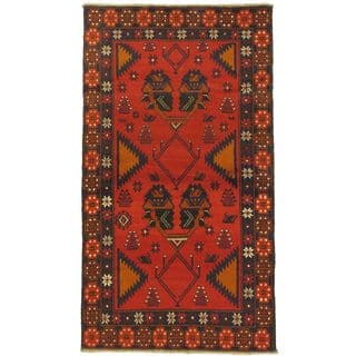 eCarpetGallery Kazak Red Wool Hand-knotted Rug (3'6 x 6'4)