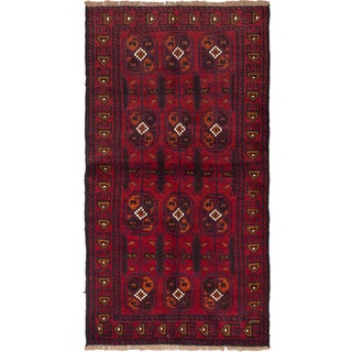 ecarpetgallery Baluch Red Wool Hand-knotted Rug (3'5 x 6'5)
