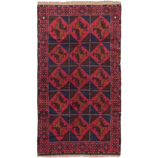 ecarpetgallery Bahor Red Wool Hand-knotted Rug (3'5 x 6'2)