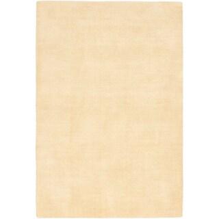 eCarpetGallery Luribaft Gabbeh Riz Yellow Wool Hand-knotted Rug (4'0 x 6'0)