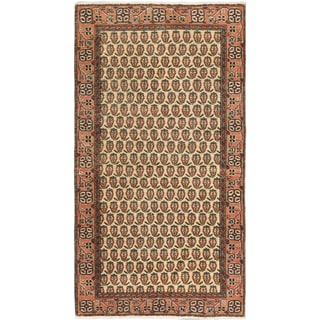 eCarpetGallery Keisari Copper/Cream/Black Cotton and Wool Hand-knotted Vintage Rug (3'7 x 6'7)