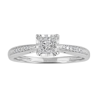 10k Gold 1/10 ct T.W. Diamond Square Frame Promise Ring (I-J, I2-I3)