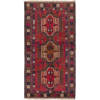 eCarpetGallery Kazak Red Wool Hand-knotted Rug (3'4 x 6'4)
