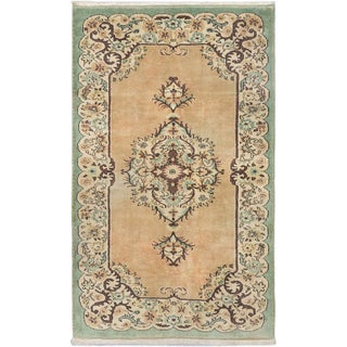 ecarpetgallery Melis Ivory/Black Cotton/Wool Vintage Hand-knotted Rug (5'2 x 8'4)