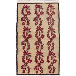 ecarpetgallery Keisari Vintage Ivory Wool Hand-knotted Rug (4'9 x 8'1)