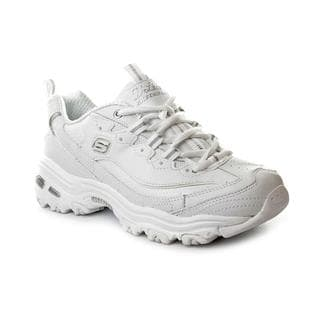 Skechers Women's D'Lites White Leather Casual Shoes