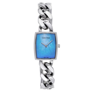 Calvin Klein Women's Stainless Steel Blue Dial Watch