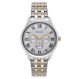 Pulsar Gold/Stainless Steel Two-tone Watch