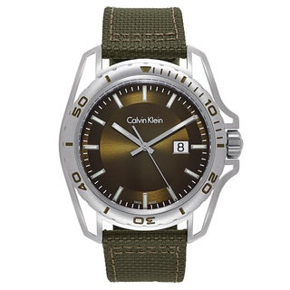 Calvin Klein Men's Green Fabric and Stainless Steel Watch