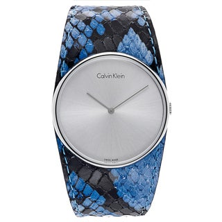 Calvin Klein Women's Stainless-steel/Leather Watch