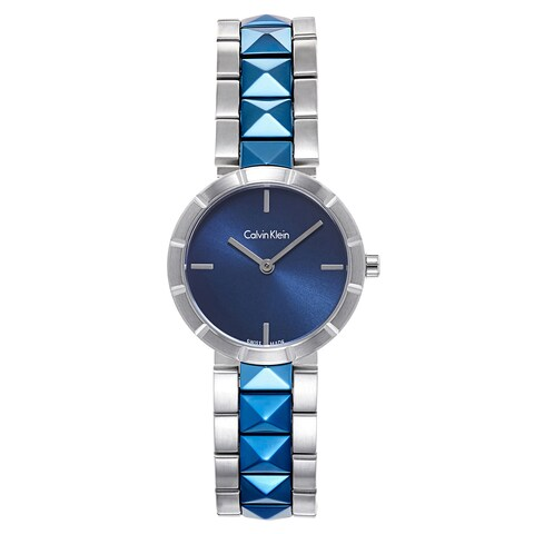 Calvin Klein Women's Multicolor Mineral and Stainless Steel Watch