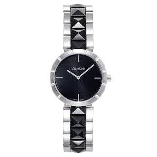 Calvin Klein Black/Silvertone Stainless-steel Women's Watch