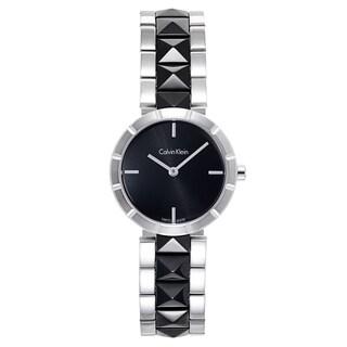 Calvin Klein Women's Black/Silvertone Stainless-steel Watch