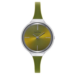 Calvin Klein Women's Round Green Stainless Steel Water-resistant Watches|https://ak1.ostkcdn.com/images/products/12058681/P18928460.jpg?impolicy=medium