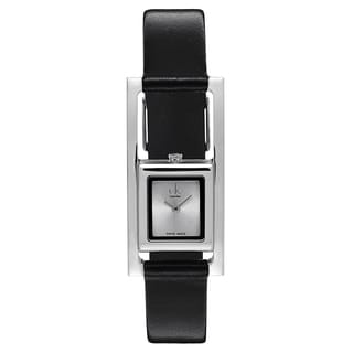 Calvin Klein Women's K4H431C6 Stainless Steel Black Leather Watch