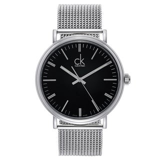 Calvin Klein Men's Stainless Steel Black Dial Watch